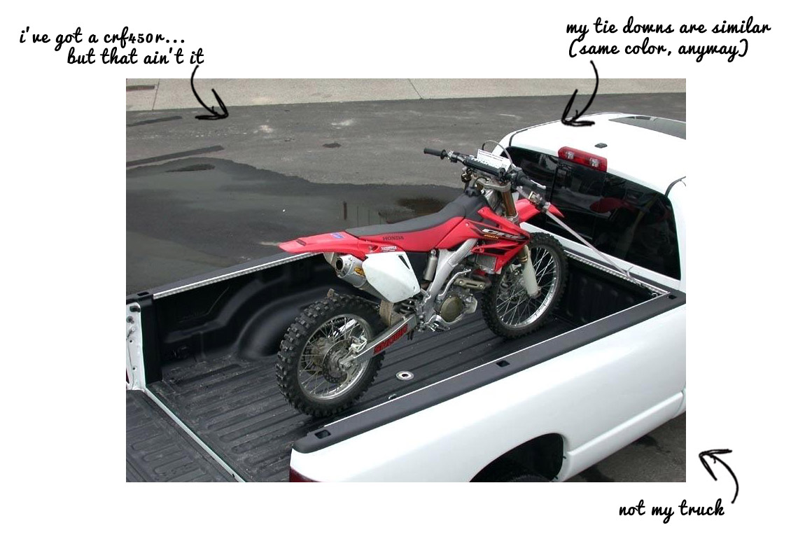 Dirt Bike in Truck
