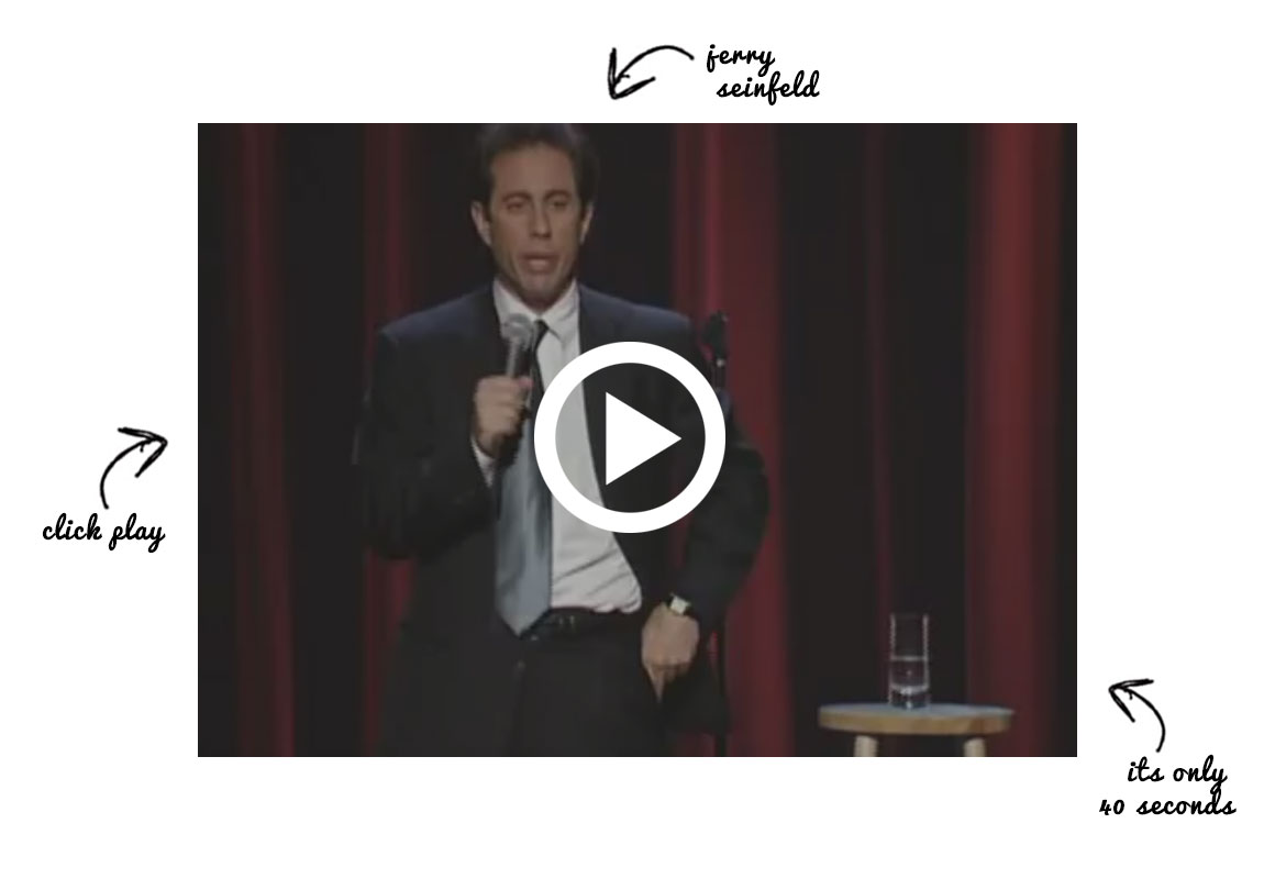 Jerry Seinfeld talking about helmets