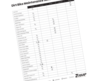 dirt bike maintenance schedule